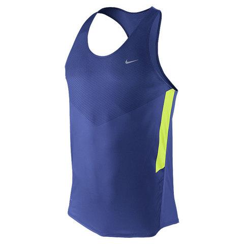 Майка л/а Nike Distance Singlet синяя