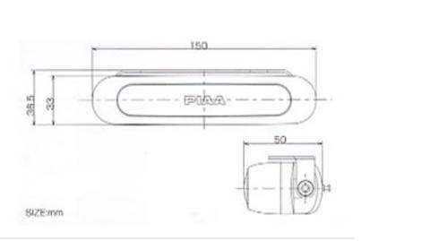 Дополнительный стоп-сигнал PIAA Deno 3 PE16