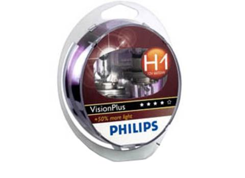 Галогенные лампы Philips H1 VisionPlus + 50% (2шт.)