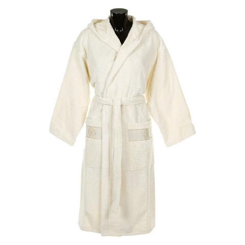 Элитный халат махровый Araldico экрю от Roberto Cavalli