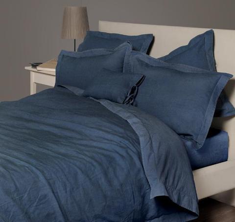 Постельное белье 1.5 спальное Bovi Eco индиго