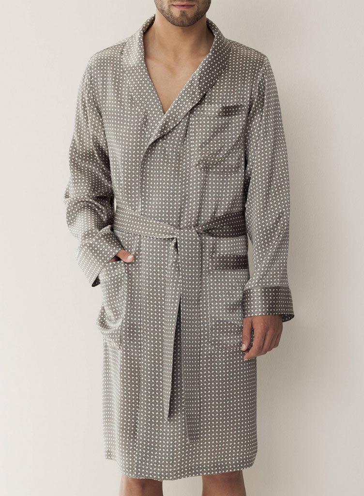Элитный шелковый халат Zimmerli