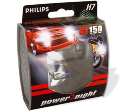 Галогенные лампы Philips H7 Power2Night GT150 + 50% (2шт.)