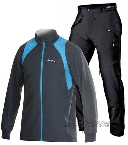 Лыжный костюм Touring Grassi Blue мужской