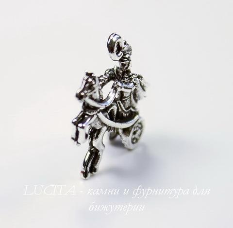 "Подвеска Quest Beads ""Колесница"" 3D (цвет-античное серебро) 21х18 мм"