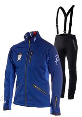 Лыжный костюм ST Pro Dressed Blue унисекс с лямками