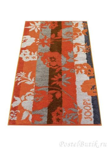 Полотенце 50x100 Cawo-JOOP! Shades Floral 1613 оранжевое