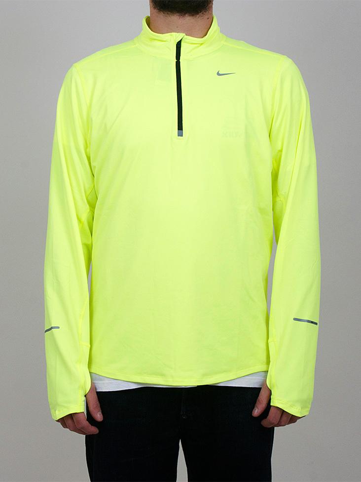Мужская беговая футболка найк  Element 1/2 Zip LS (504606 703)