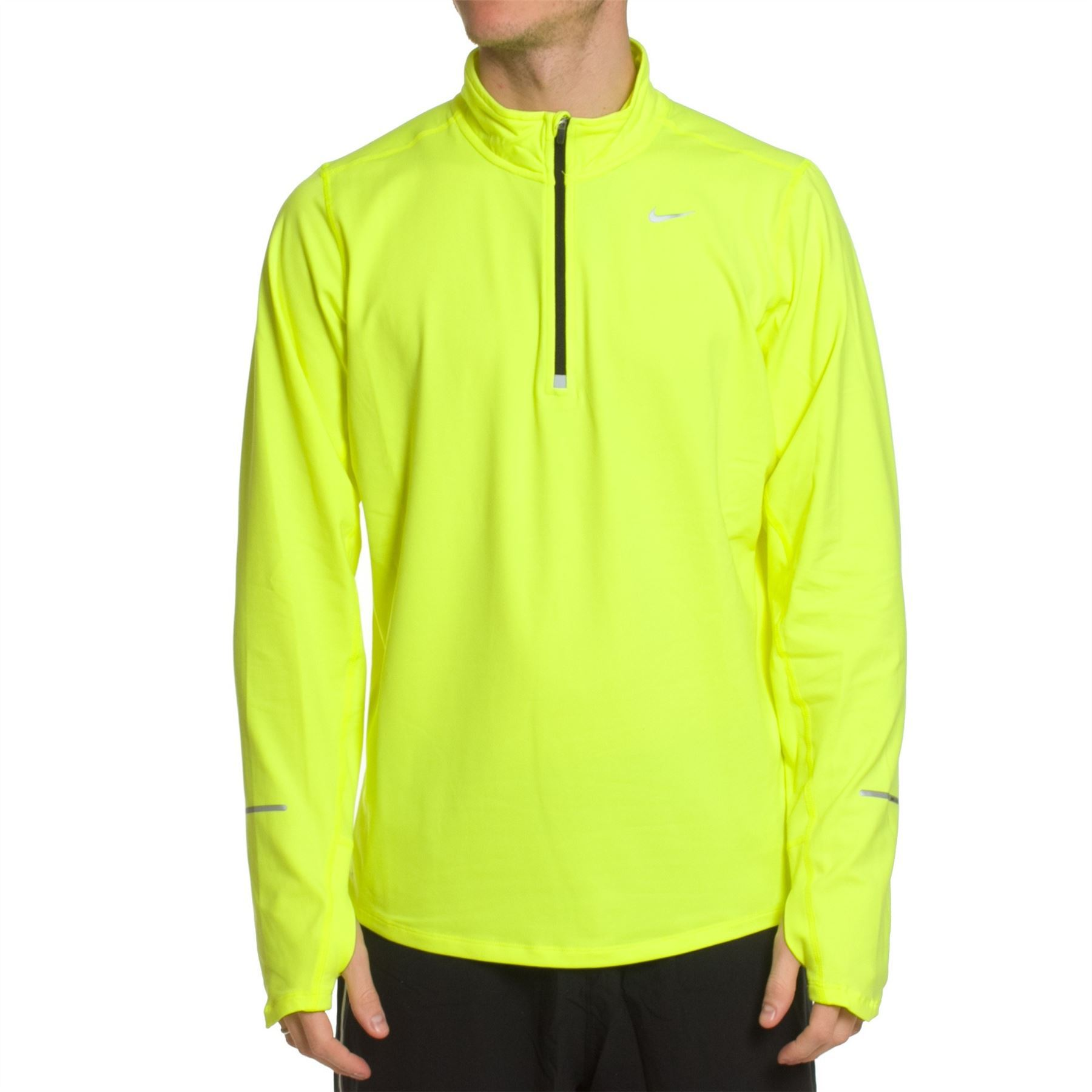Мужская беговая футболка найк  Element 1/2 Zip LS (504606 703) фото