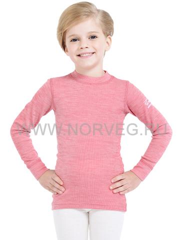Футболка Norveg Soft  детская с длинным рукавом розовая