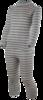 Детский комплект термобелья с шерстью мериноса Norveg Winter Grey