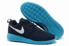 Nike Roshe Run Material Black Azure