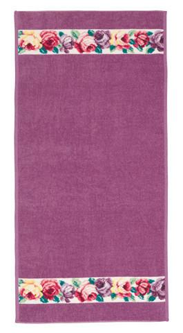 Полотенце 75x150 Feiler Chloe weis 55 lavendel
