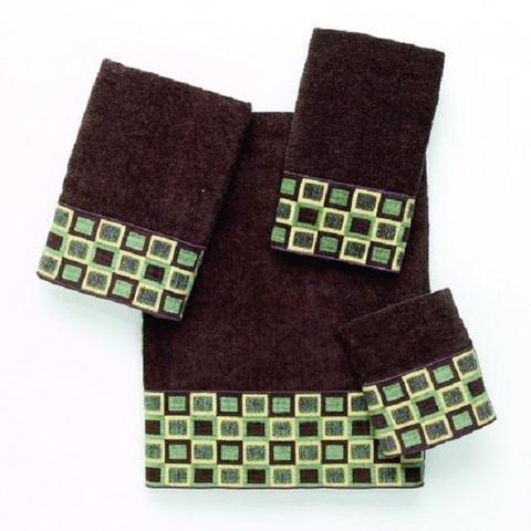 Полотенце 41х76 Avanti Blocks коричневое