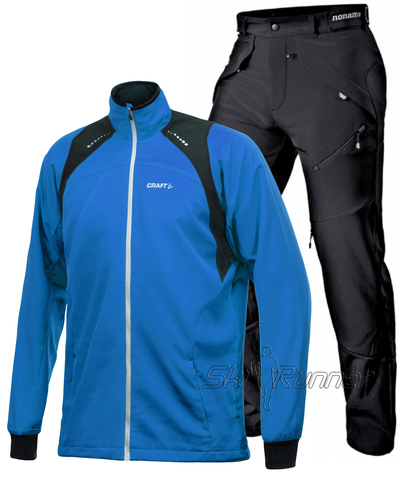 Лыжный костюм Touring Grassi Light Blue мужской