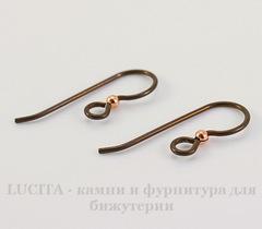Швензы-крючки TierraCast с шариком 23х8 мм (цвет-античная медь), пара