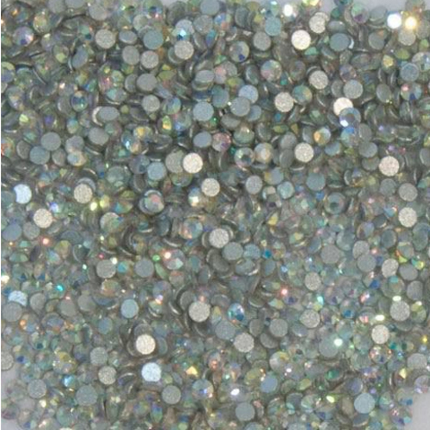 Стразы стекло, ss3 - 1,5 мм Голография 50 шт