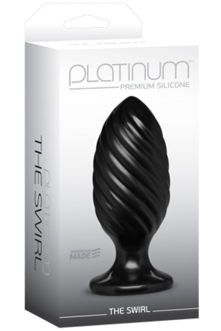 Анальный плаг Platinum Premium Silicone - The Swirl (12,70х5,00 см)