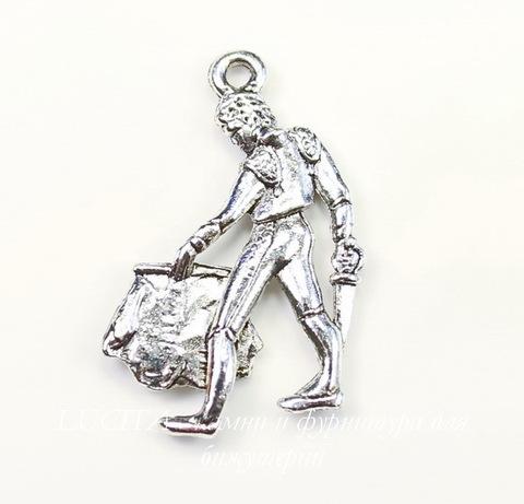 "Подвеска Quest Beads ""Матадор"" (цвет-античное серебро) 24х15 мм"