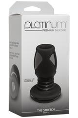 Анальный тоннель Platinum Premium Silicone - The Stretch с отверстием (8,60х4,30 см)