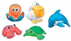Munchkin Игрушка для ванной Морские животные 5 шт от 9 мес
