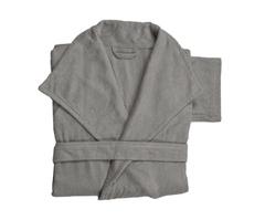 Элитный халат махровый Waterside серебряный от Hamam