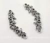 """Коннектор Quest Beads """"Листья"""" (цвет-античное серебро) 26х9 мм"""