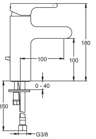 Jacob Delafon Singulier cмеситель для раковины E10860-CP