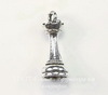 """Подвеска Quest Beads в виде шахматной фигуры """"Ладья"""" 3D (цвет-античное серебро) 19х8 мм"""