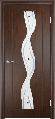 Дверь Верда Вираж, цвет венге, остекленная