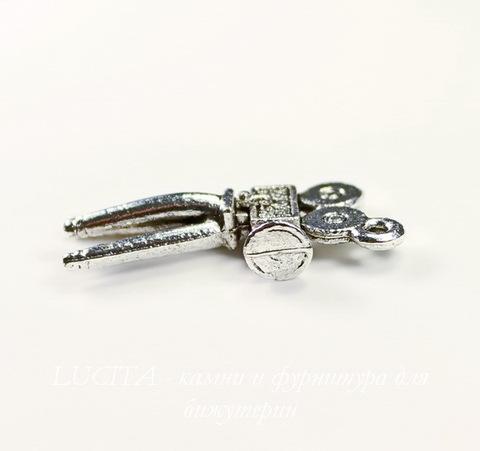 """Подвеска Quest Beads """"Кинопроектор"""" (цвет-античное серебро) 26х12 мм"""