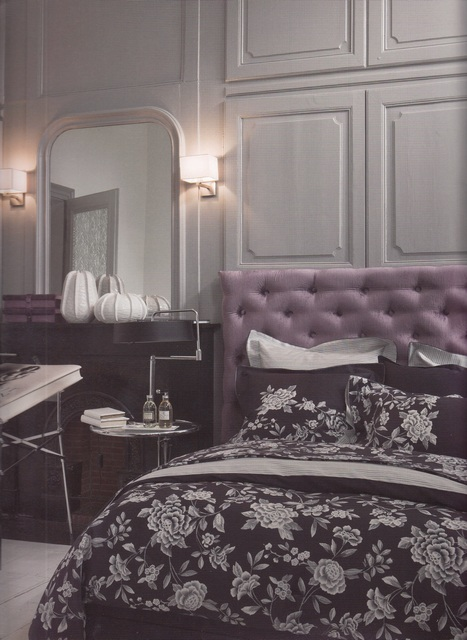 Комплекты постельного белья Постельное белье 2 спальное евро Alexandre Turpault Broceliande фиолетовое elitnoe-postelnoe-belie-broceliande-ot-alexandre-turpault-fransiya.jpg