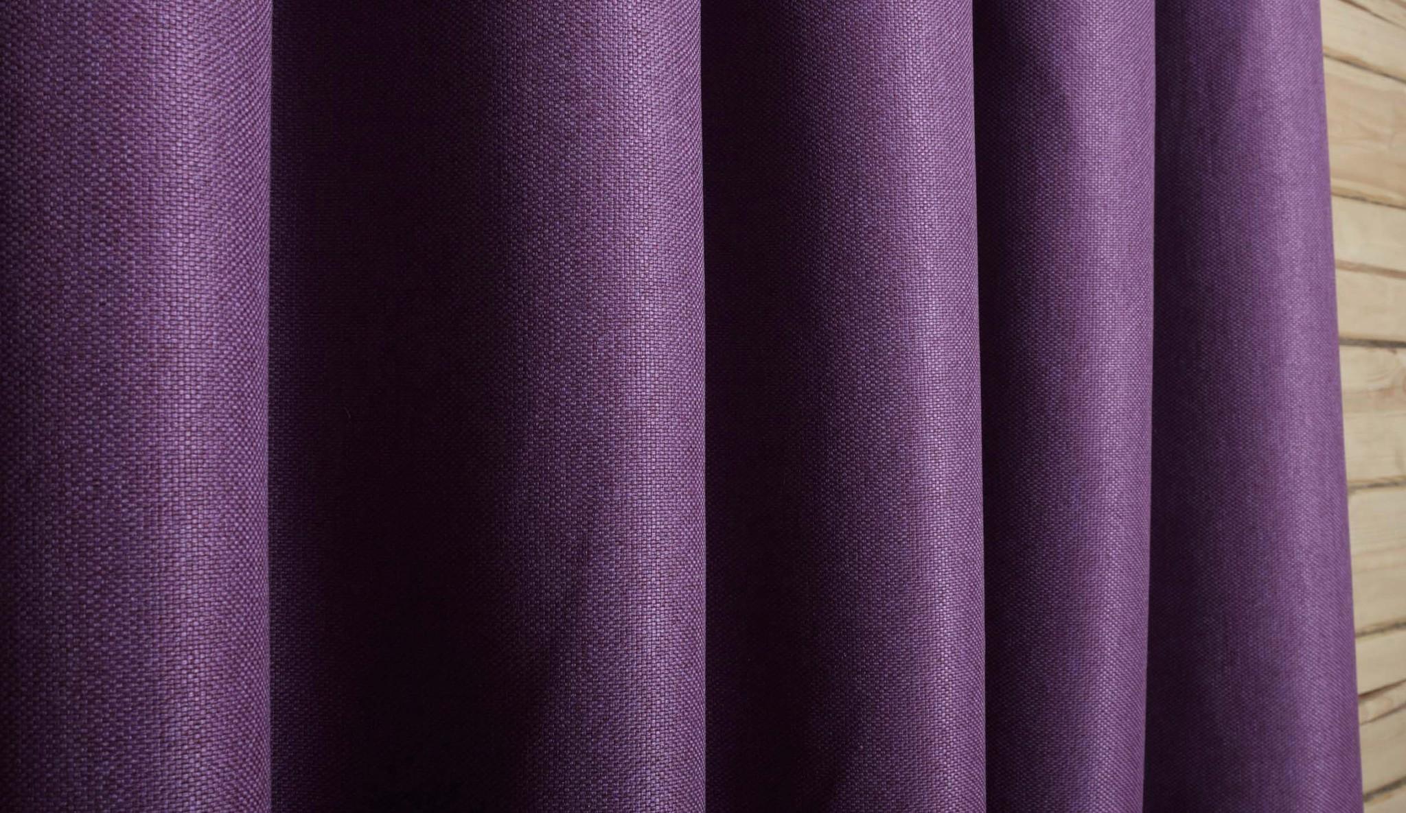 Готовая штора. Портьера под  лён Oxford (фиолетовый)