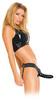 Полый страпон для мужчин унисекс черного цвета (15х4,5 см)
