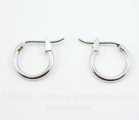 Швензы- кольца (цвет - античное серебро) 15х13 мм