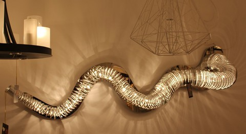 Kevin Reilly Snake wall lamp