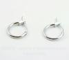 Швензы- кольца (цвет - античное серебро) 15х13 мм ()