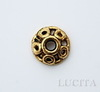 Шапочка для бусины (цвет - античное золото) 10х3 мм , 10 штук ()