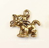 """Подвеска Quest Beads """"Полосатый котенок"""" (цвет-античное золото) 18х17 мм"""