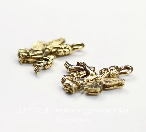 """Подвеска Quest Beads """"Цветочная фея"""" (цвет-античное золото) 19х17 мм"""