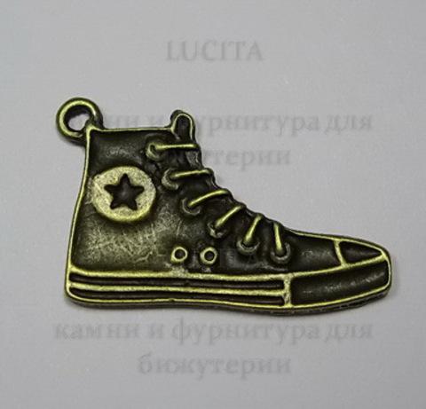 """Подвеска """"Кед""""  32х20 мм (цвет - античная бронза)"""