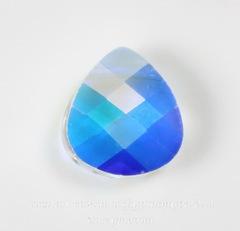 6012 Подвеска Сваровски Flat Briolette Crystal AB (11x10 мм)