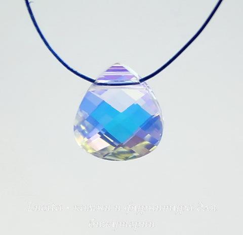 6012 Подвеска Сваровски Flat Briolette Crystal AB (11x10 мм) ()