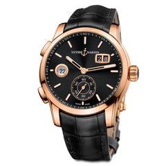 Наручные золотые часы Ulysse Nardin 3346-126-92 Dual Time Manufacture