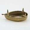 Сеттинг - основа - подвеска Капля для страза 25х18 мм (оксид латуни) ()