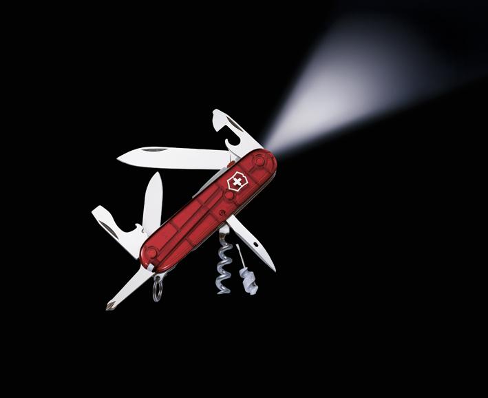 Швейцарский нож Victorinox Spartan, 94 мм, 14 функ, красный полупрозрачный  (1.7804.T)