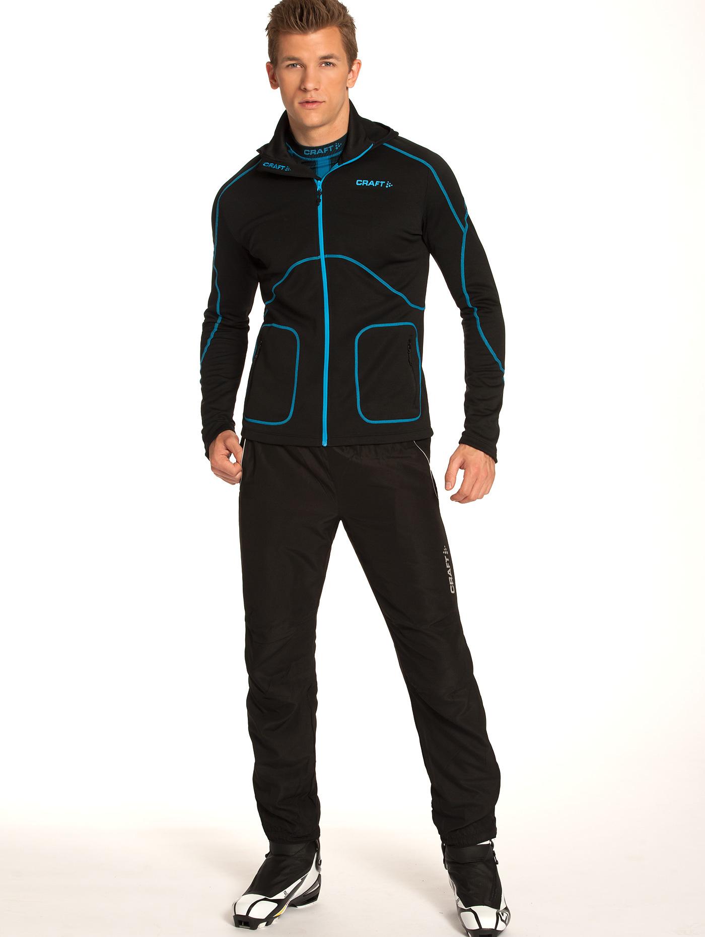 Толстовка Craft Active Hood Zip Black мужская