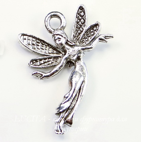 """Подвеска Quest Beads """"Фея воздуха"""" (цвет-античное серебро) 23х16 мм"""