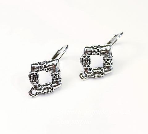 "Швензы с французским замком Quest Beads ""Готика"" 25х14 мм (цвет-античное серебро), пара"
