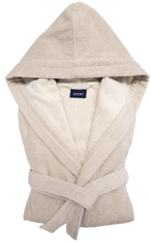 Элитный халат велюровый 1619 бежевый от Joop! - Cawo